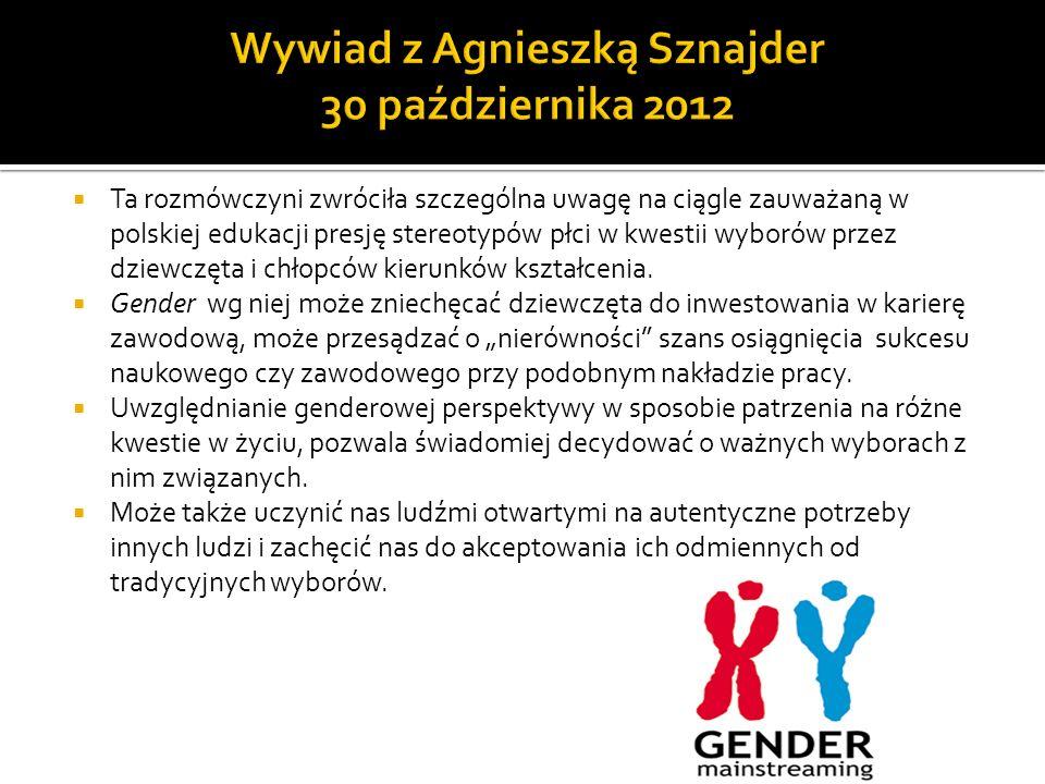Wywiad z Agnieszką Sznajder 30 października 2012