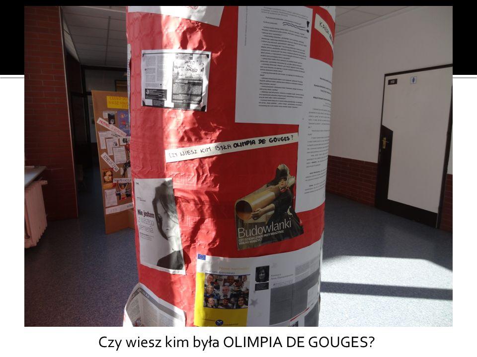 Czy wiesz kim była OLIMPIA DE GOUGES