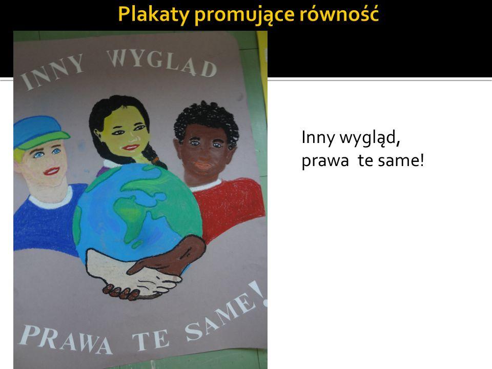 Plakaty promujące równość