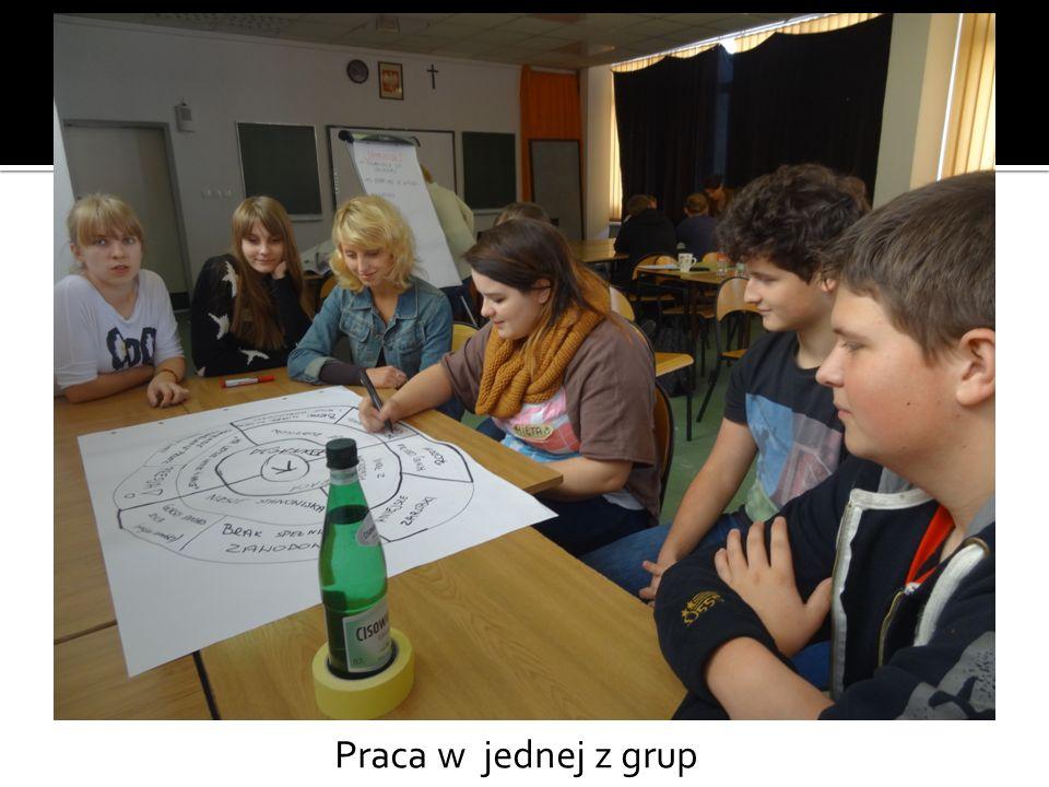 Praca w jednej z grup