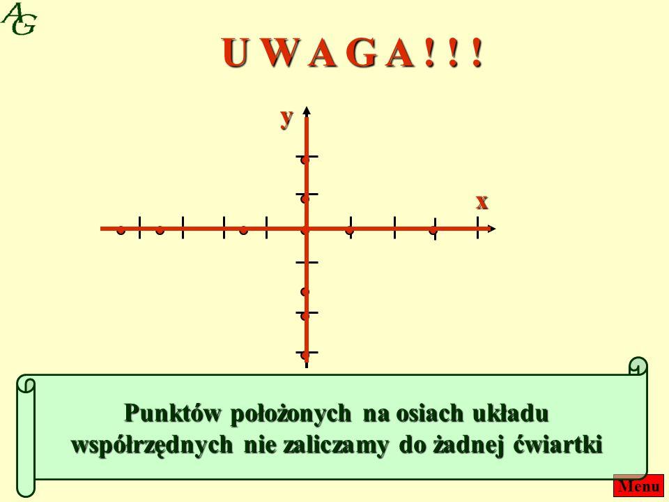 U W A G A . y. x.