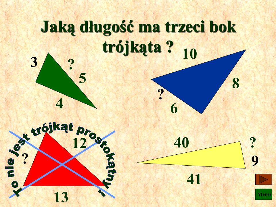 Jaką długość ma trzeci bok trójkąta