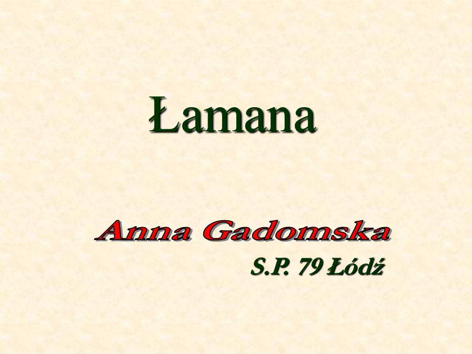 Łamana Anna Gadomska S.P. 79 Łódź
