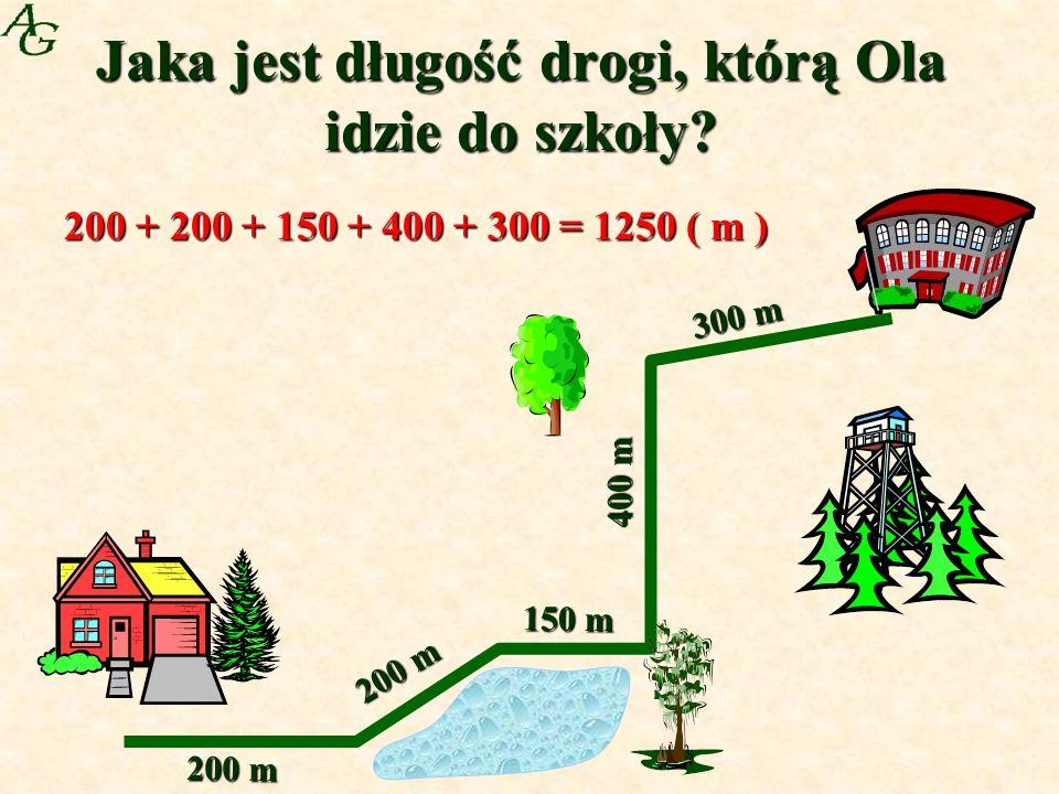 Jaka jest długość drogi, którą Ola idzie do szkoły