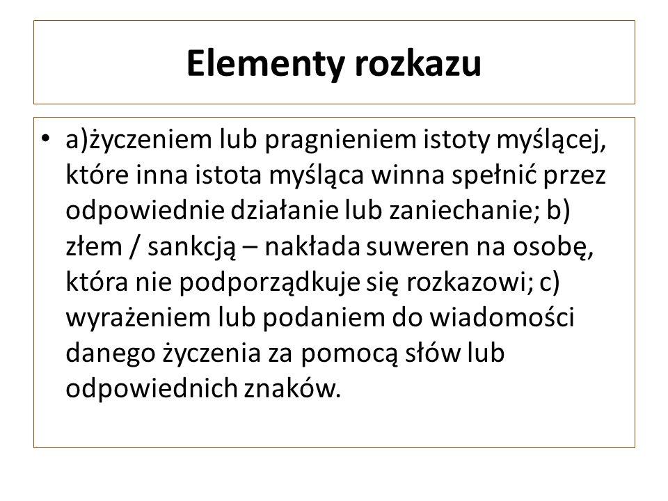 Elementy rozkazu