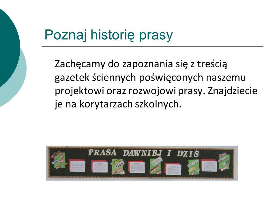 Poznaj historię prasy