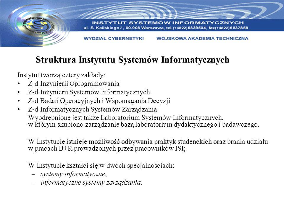 Struktura Instytutu Systemów Informatycznych