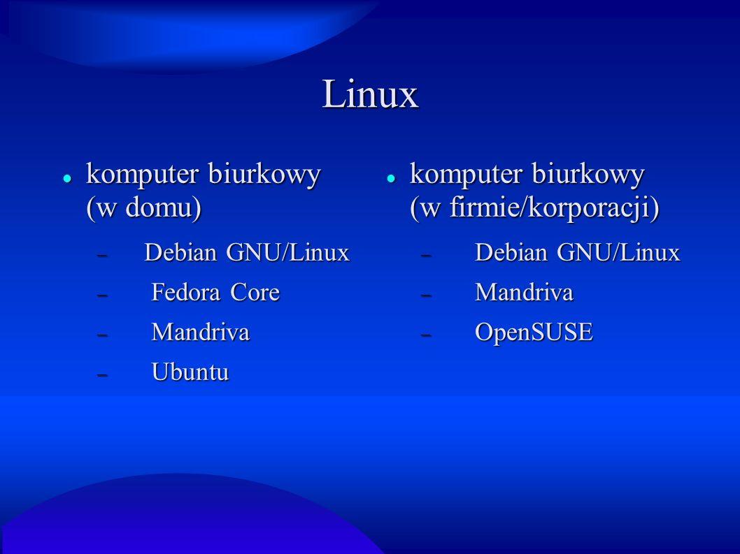 Linux komputer biurkowy (w domu)