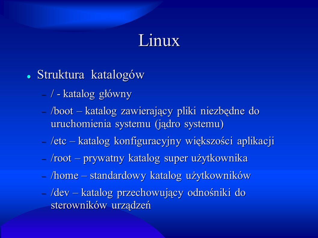 Linux Struktura katalogów / - katalog główny