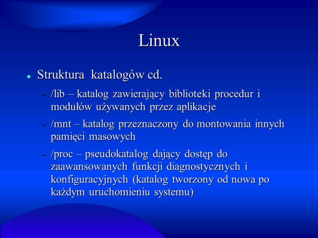 Linux Struktura katalogów cd.