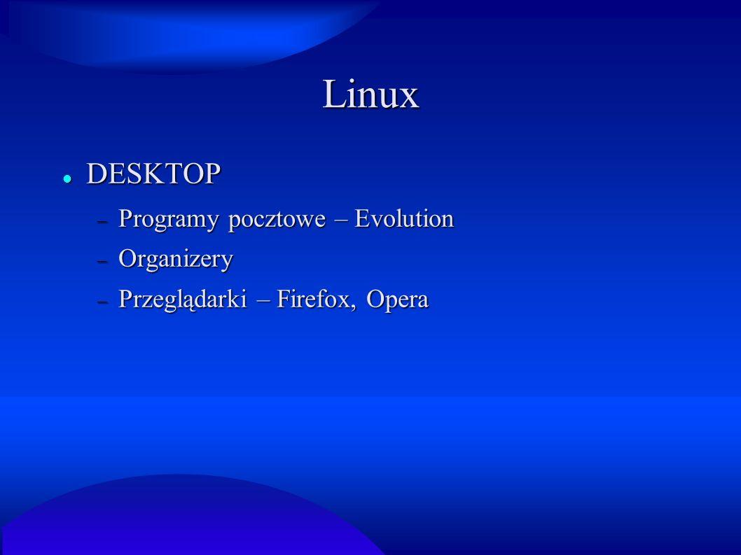Linux DESKTOP Programy pocztowe – Evolution Organizery