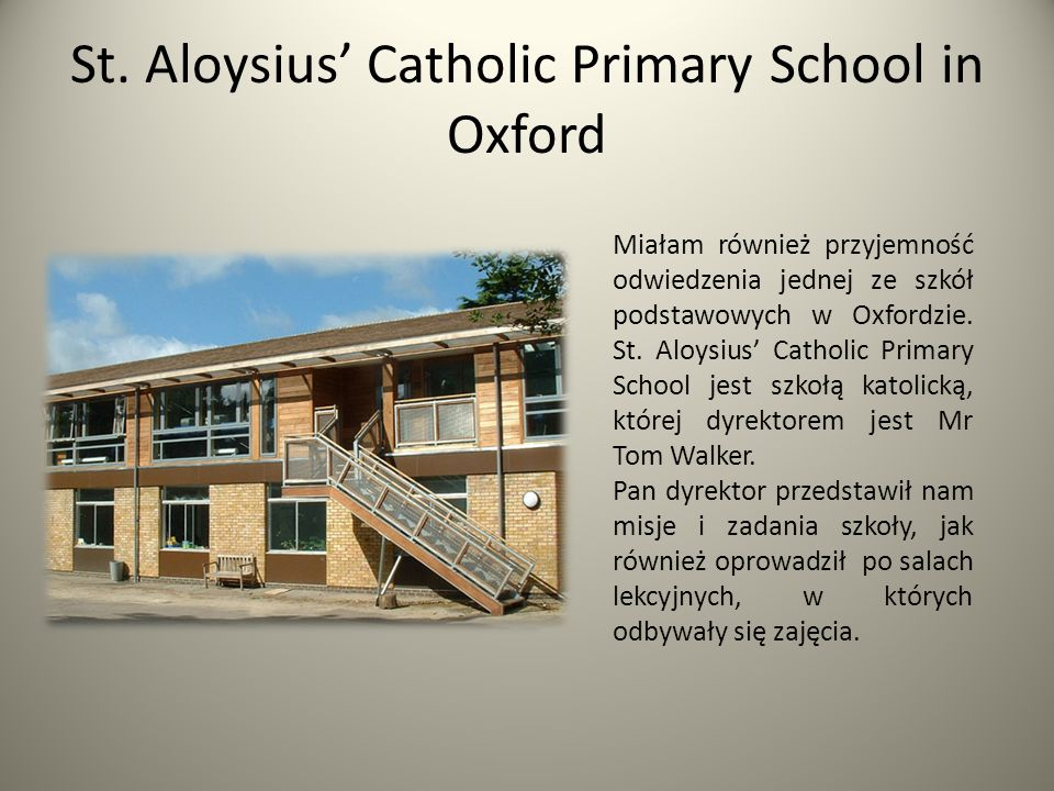 St. Aloysius' Catholic Primary School in Oxford