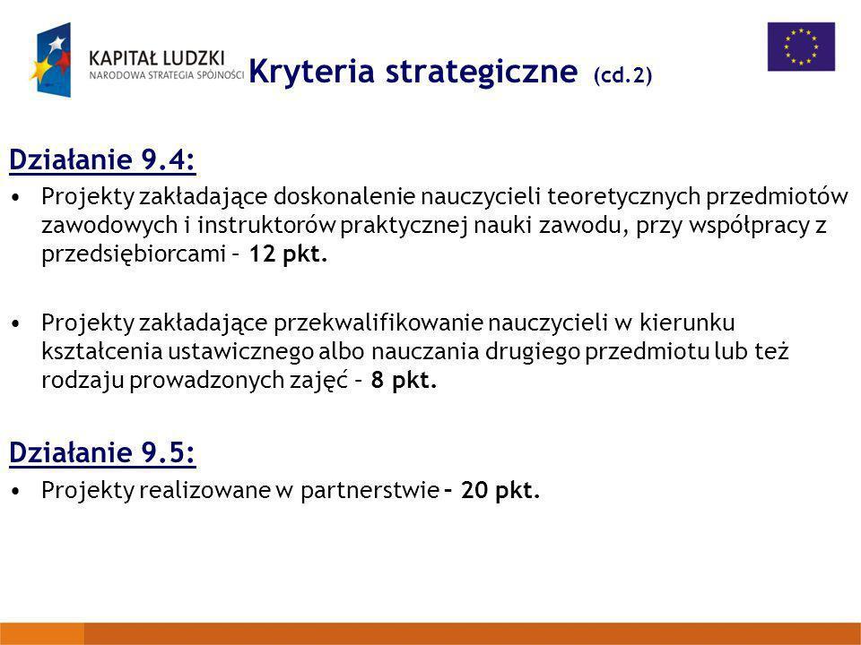 Kryteria strategiczne (cd.2)