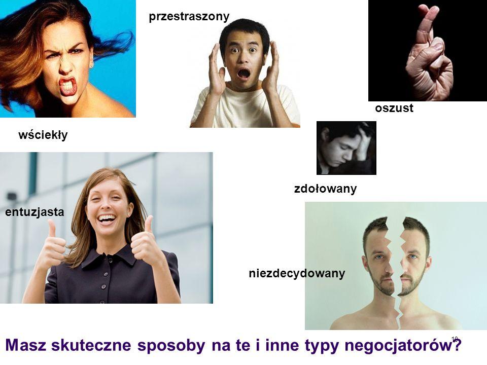 Masz skuteczne sposoby na te i inne typy negocjatorów