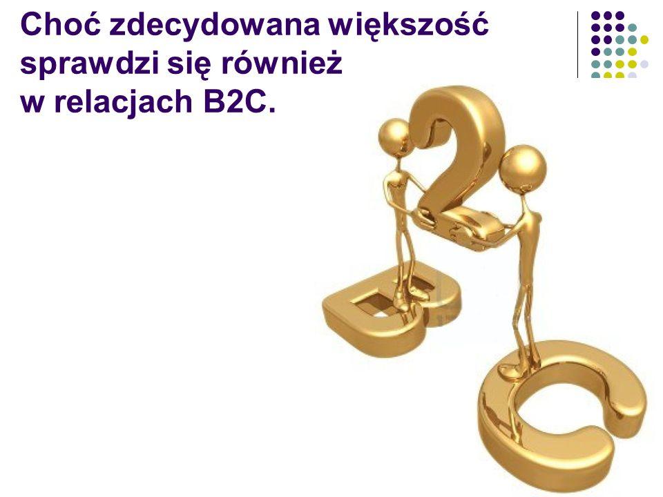 Choć zdecydowana większość sprawdzi się również w relacjach B2C.