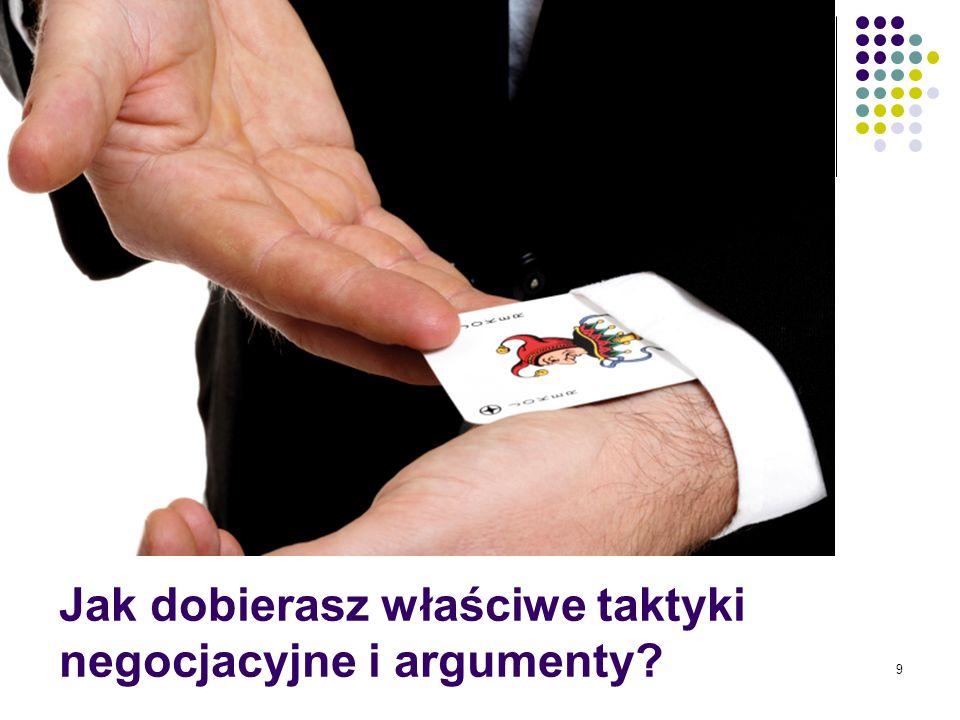 Jak dobierasz właściwe taktyki negocjacyjne i argumenty