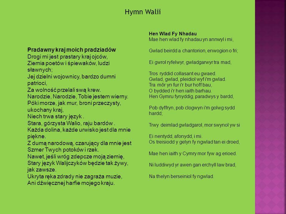 Hymn Walii Pradawny kraj moich pradziadów