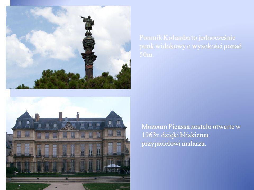 Pomnik Kolumba to jednocześnie punk widokowy o wysokości ponad 50m.