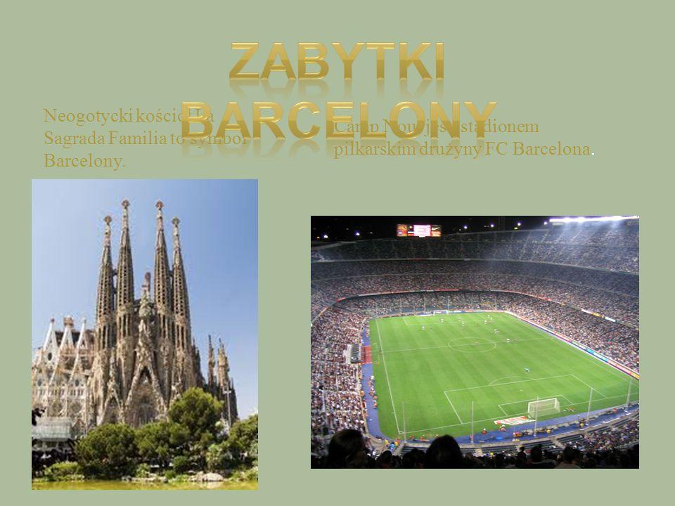 Zabytki Barcelony Neogotycki kościół La Sagrada Familia to symbol Barcelony.