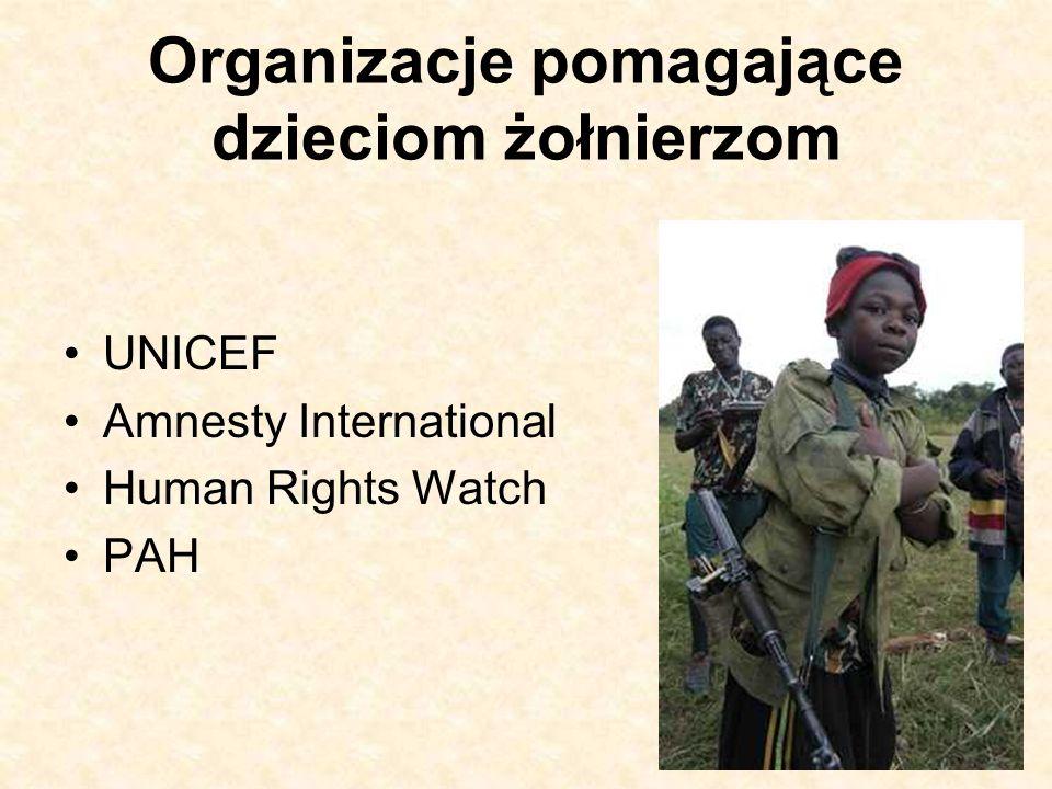 Organizacje pomagające dzieciom żołnierzom