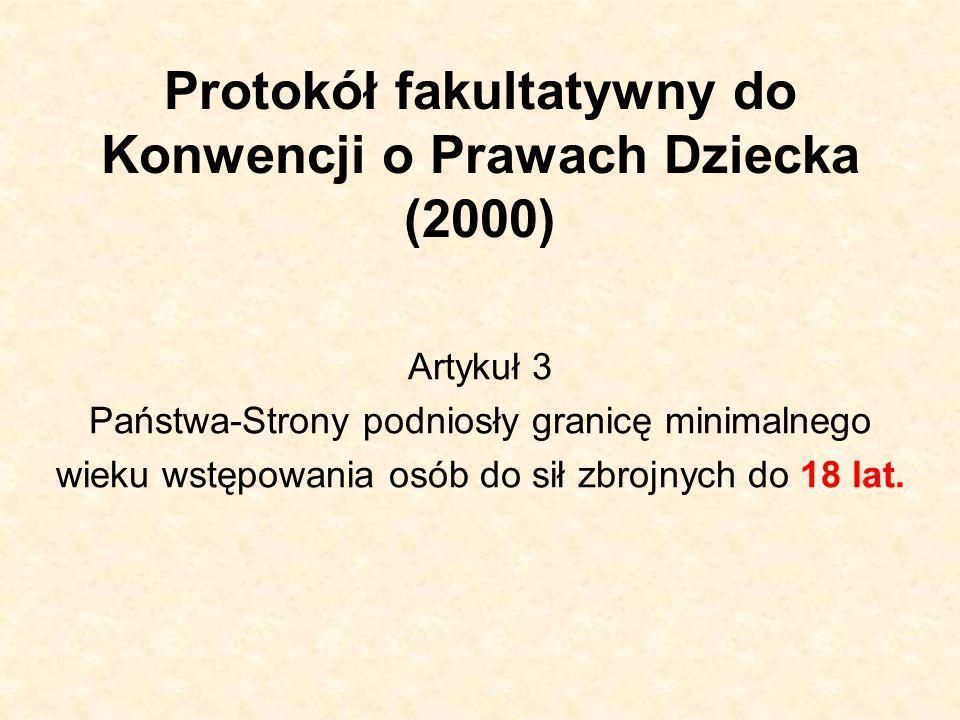 Protokół fakultatywny do Konwencji o Prawach Dziecka (2000)