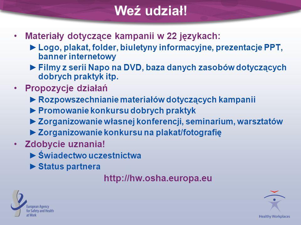 Weź udział! Materiały dotyczące kampanii w 22 językach: