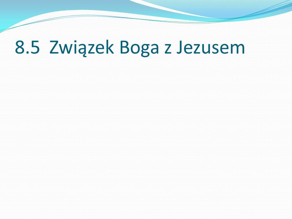 8.5 Związek Boga z Jezusem