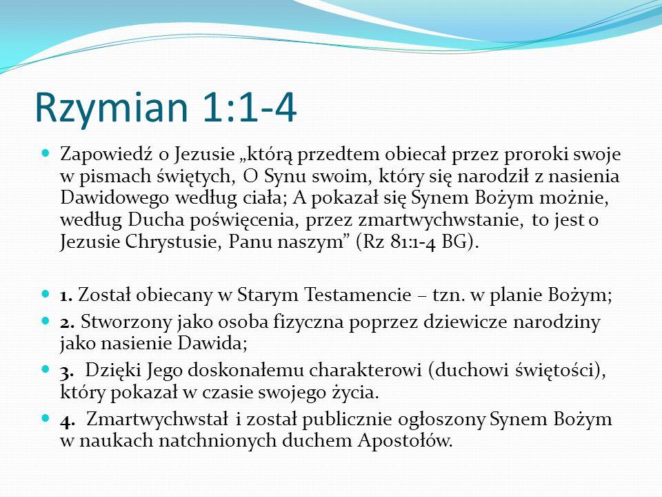 Rzymian 1:1-4