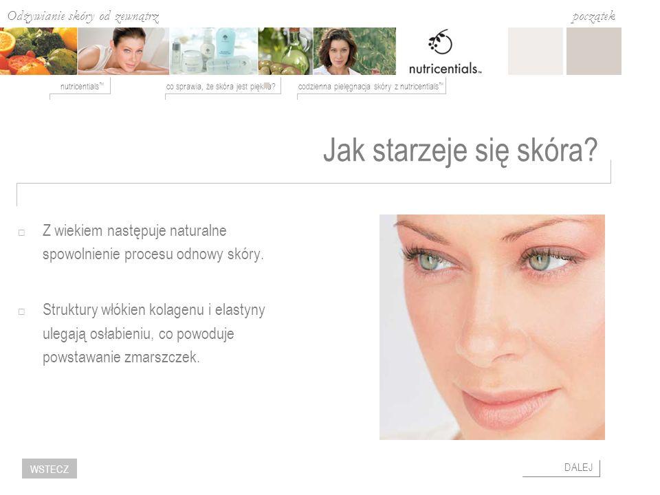 Jak starzeje się skóra Z wiekiem następuje naturalne spowolnienie procesu odnowy skóry.