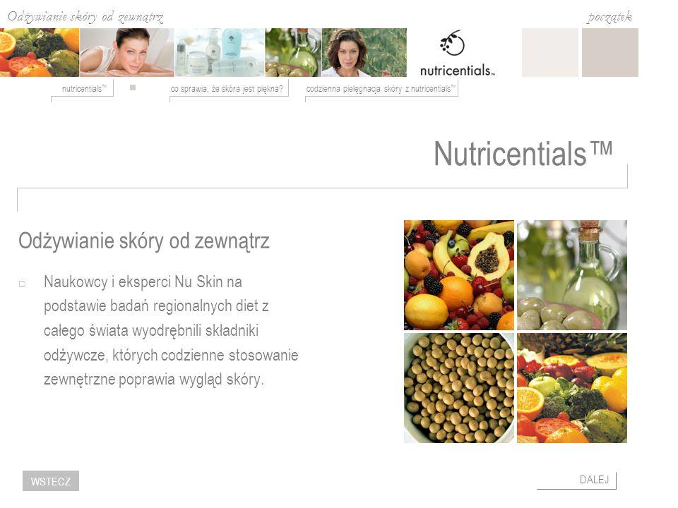 Nutricentials™ Odżywianie skóry od zewnątrz