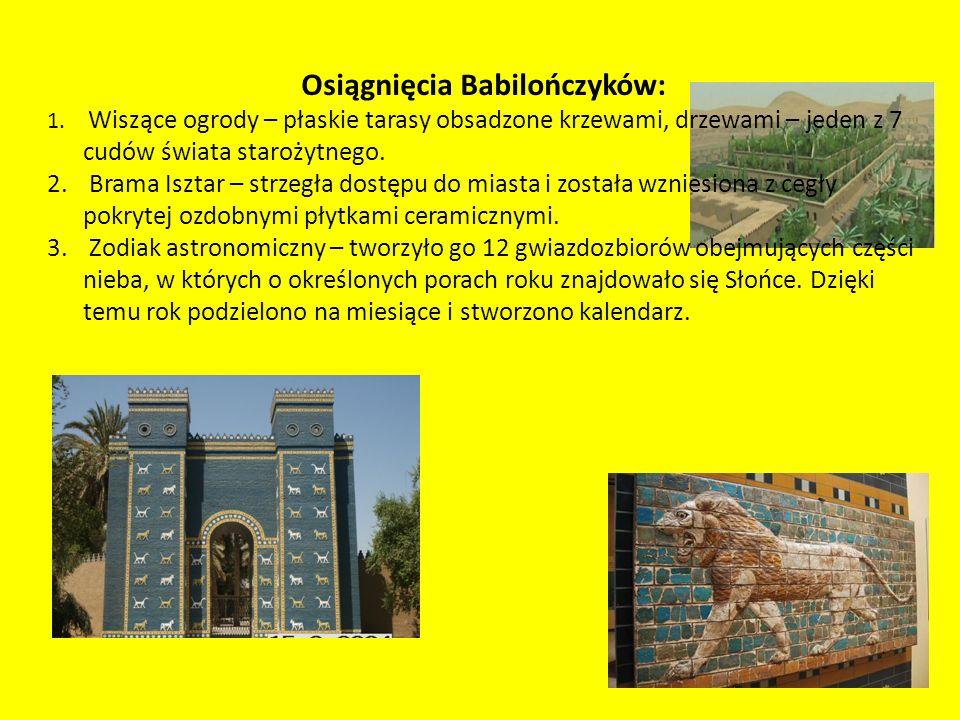 Osiągnięcia Babilończyków: