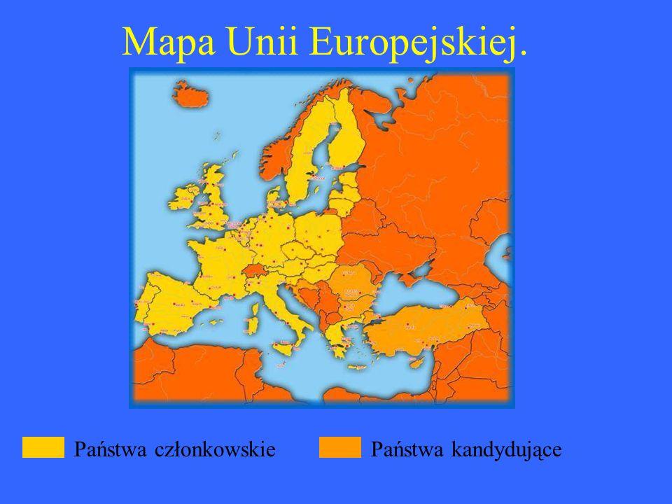 Mapa Unii Europejskiej.
