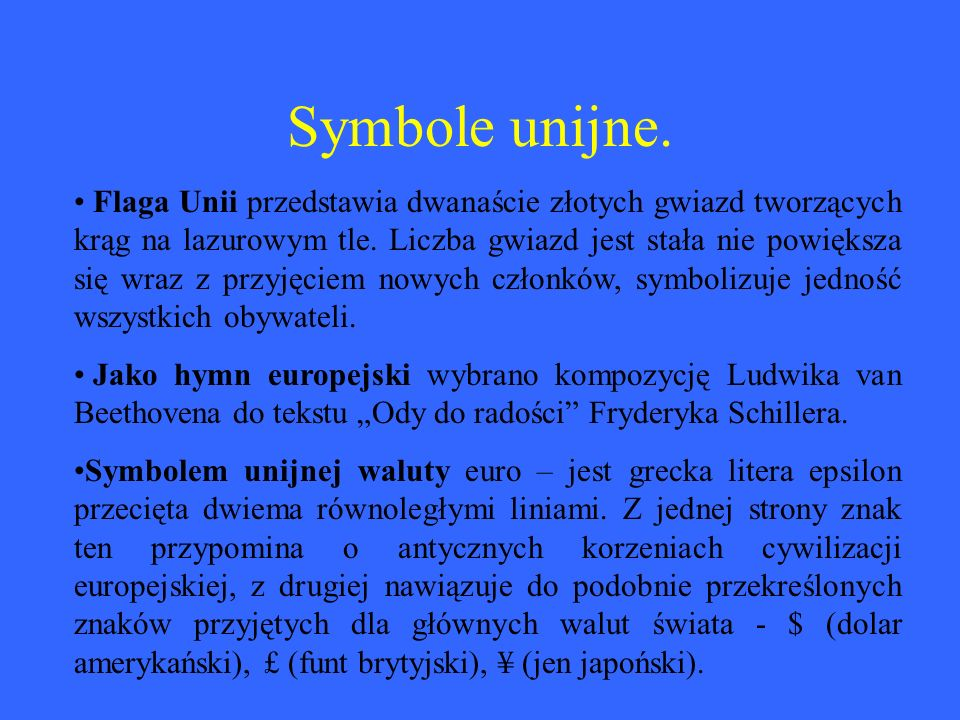 Symbole unijne.