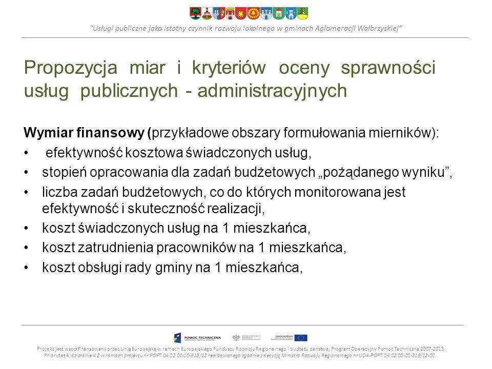 Usługi publiczne jako istotny czynnik rozwoju lokalnego w gminach Aglomeracji Wałbrzyskiej
