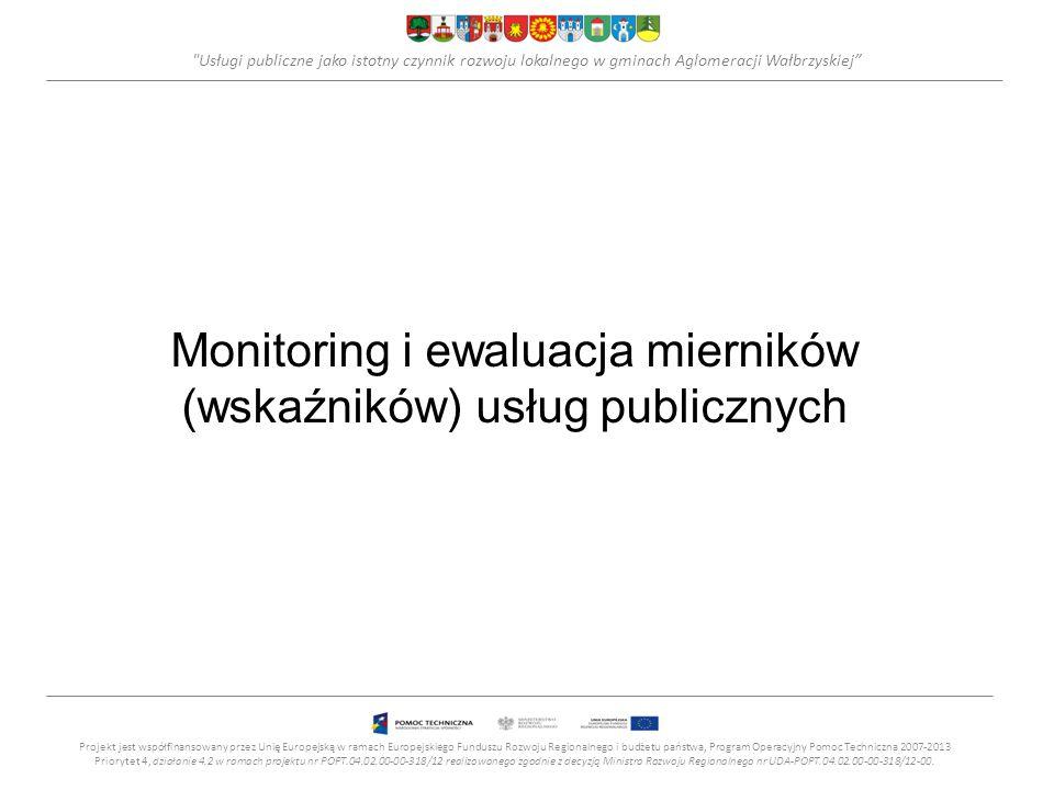 Monitoring i ewaluacja mierników (wskaźników) usług publicznych