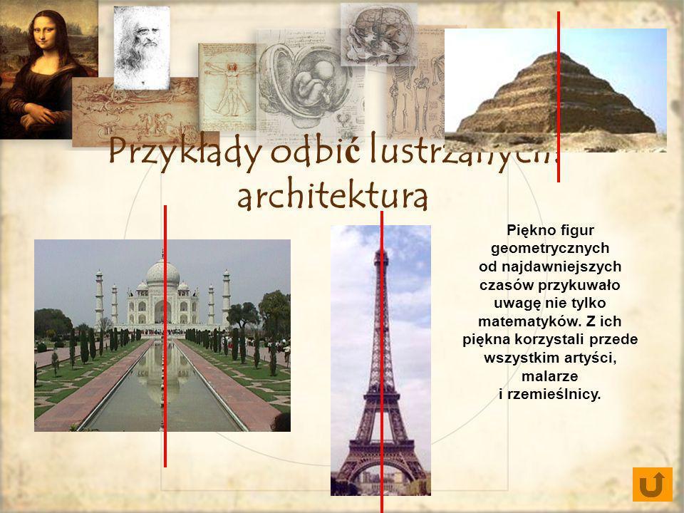 Przykłady odbić lustrzanych: architektura