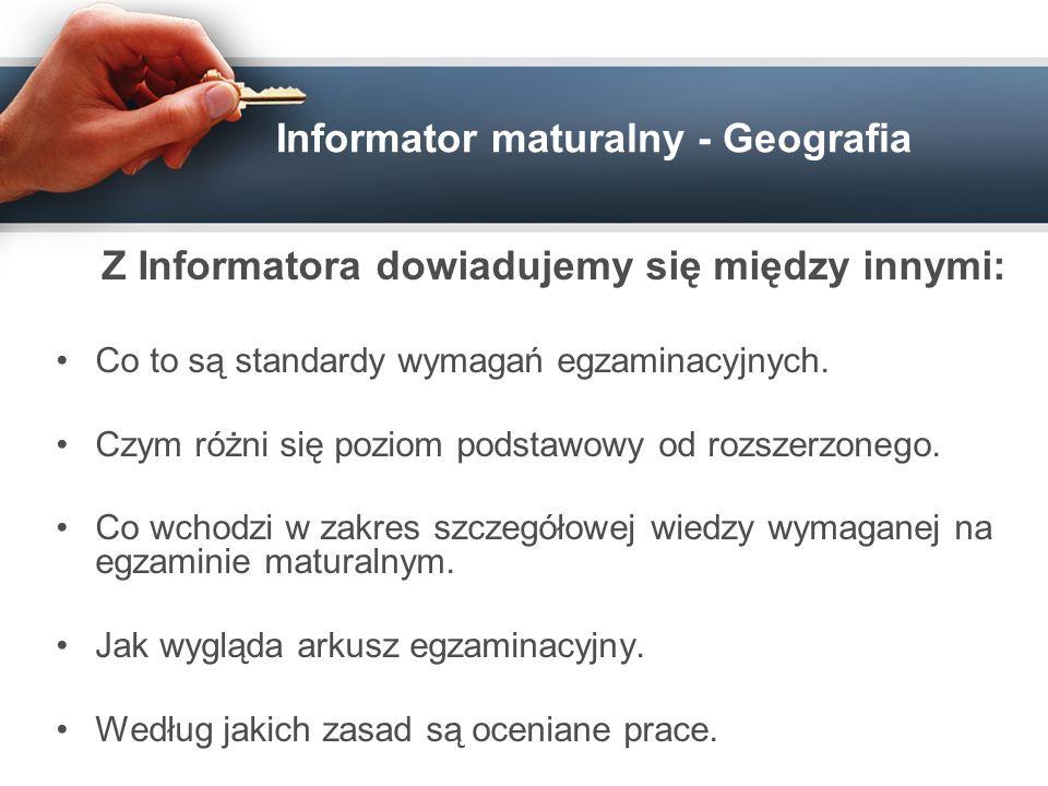 Informator maturalny - Geografia