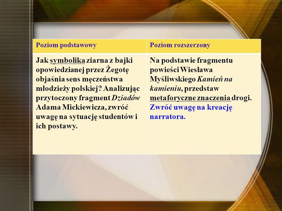 Adama Mickiewicza, zwróć uwagę na sytuację studentów i ich postawy.