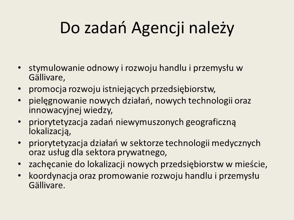 Do zadań Agencji należy