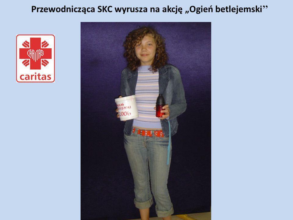 """Przewodnicząca SKC wyrusza na akcję """"Ogień betlejemski''"""
