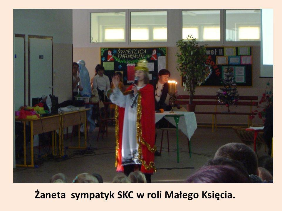 Żaneta sympatyk SKC w roli Małego Księcia.