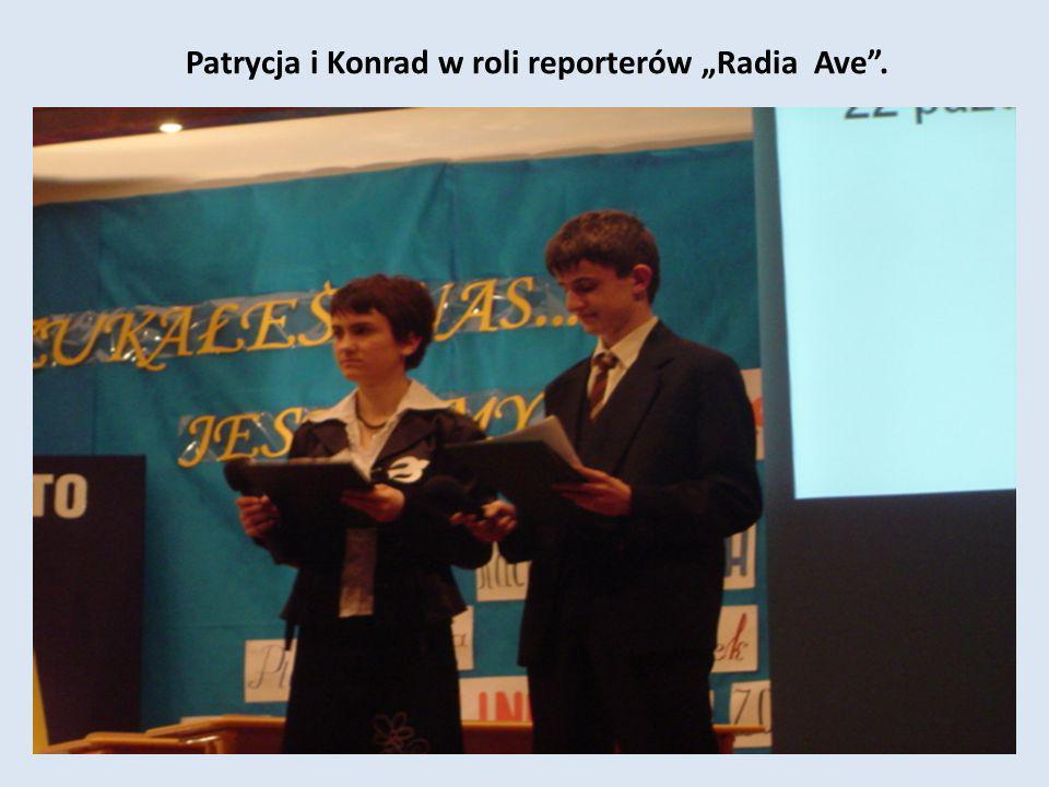"""Patrycja i Konrad w roli reporterów """"Radia Ave ."""