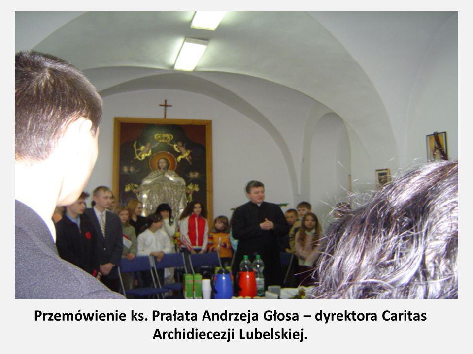 Przemówienie ks. Prałata Andrzeja Głosa – dyrektora Caritas Archidiecezji Lubelskiej.