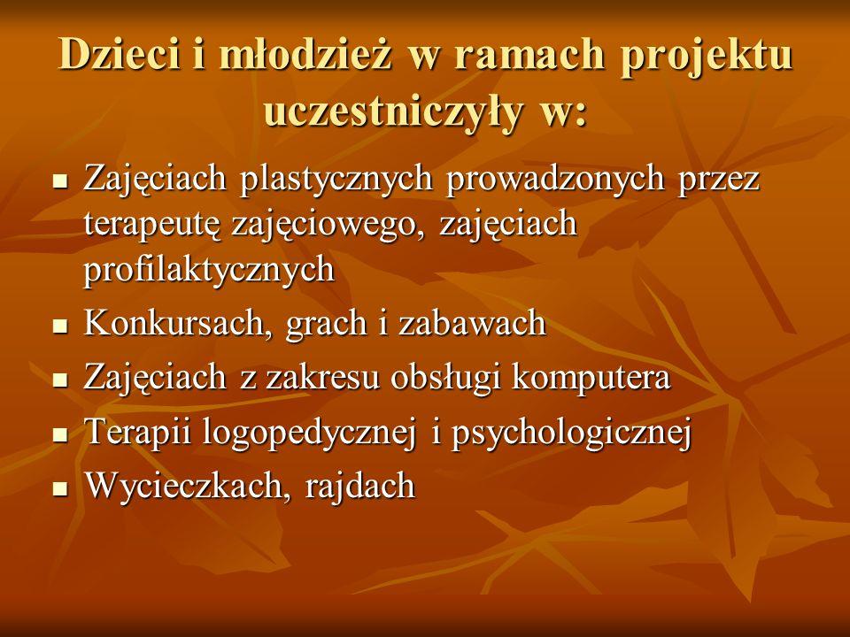 Dzieci i młodzież w ramach projektu uczestniczyły w:
