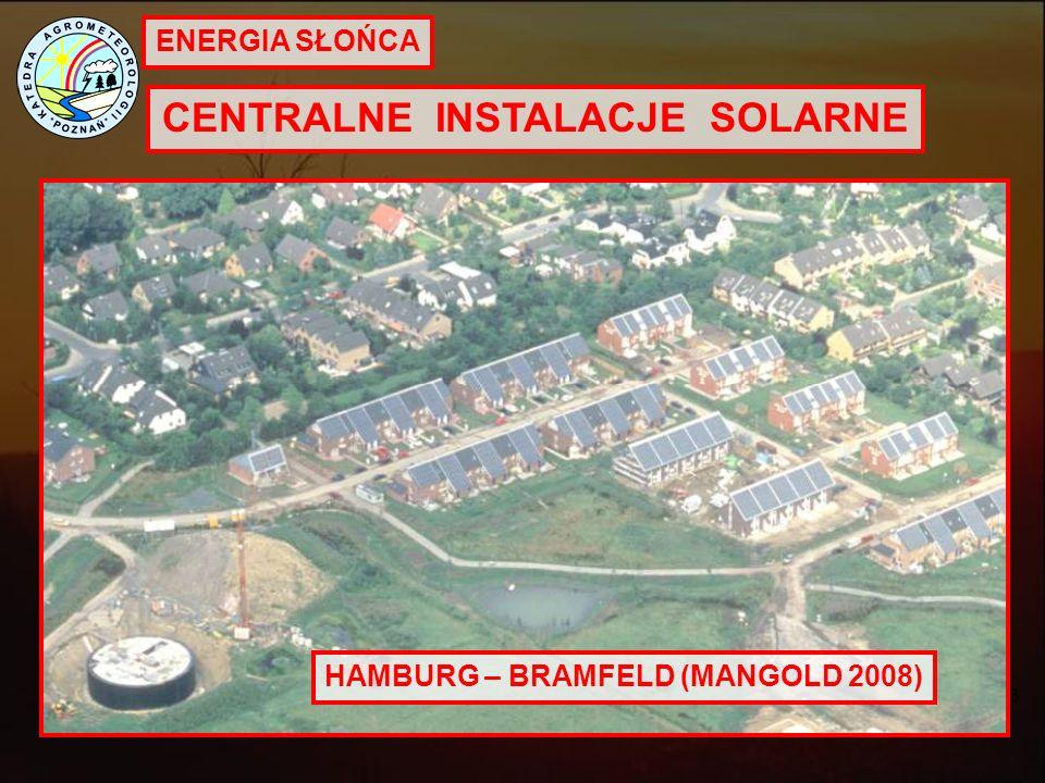 CENTRALNE INSTALACJE SOLARNE HAMBURG – BRAMFELD (MANGOLD 2008)