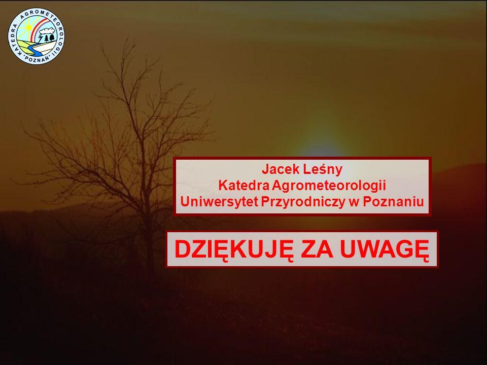 Katedra Agrometeorologii Uniwersytet Przyrodniczy w Poznaniu