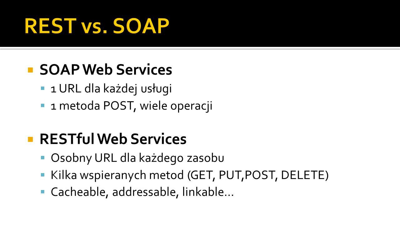 REST vs. SOAP SOAP Web Services RESTful Web Services