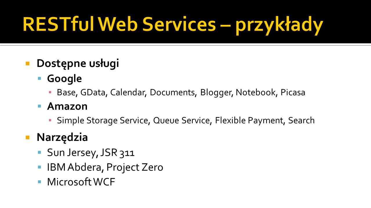 RESTful Web Services – przykłady