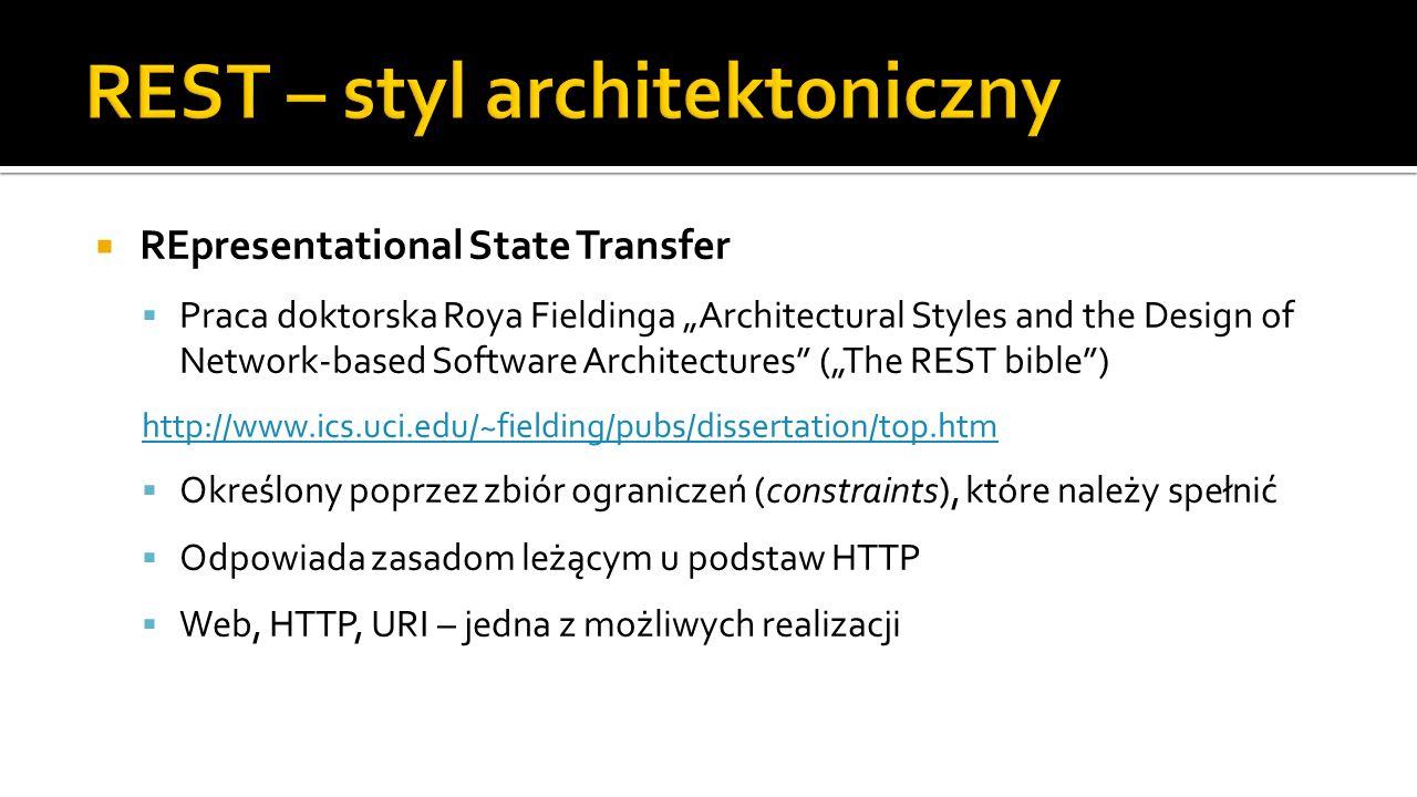 REST – styl architektoniczny