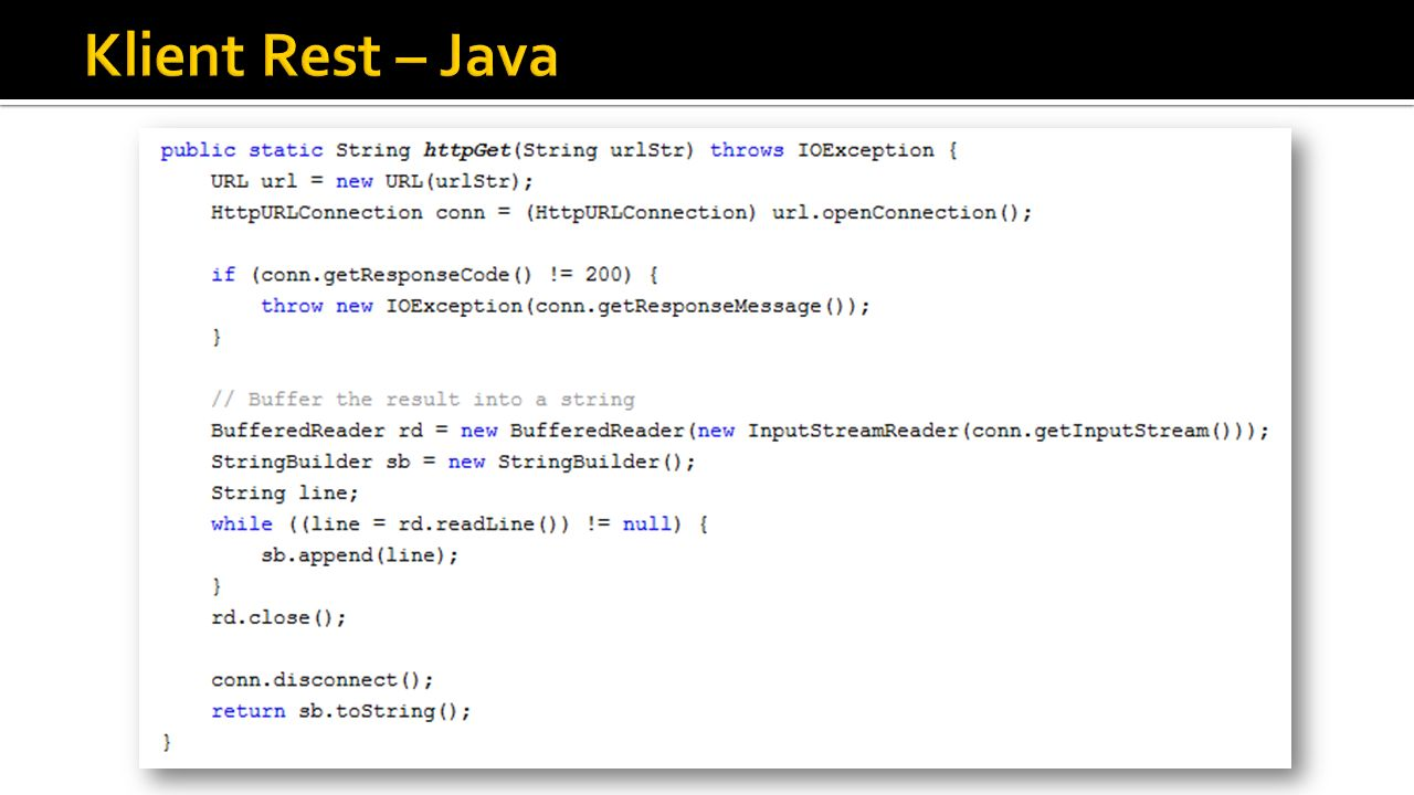 Klient Rest – Java